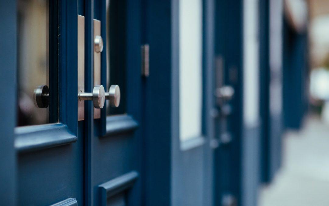 Entrance door security systems